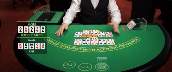 live poker table