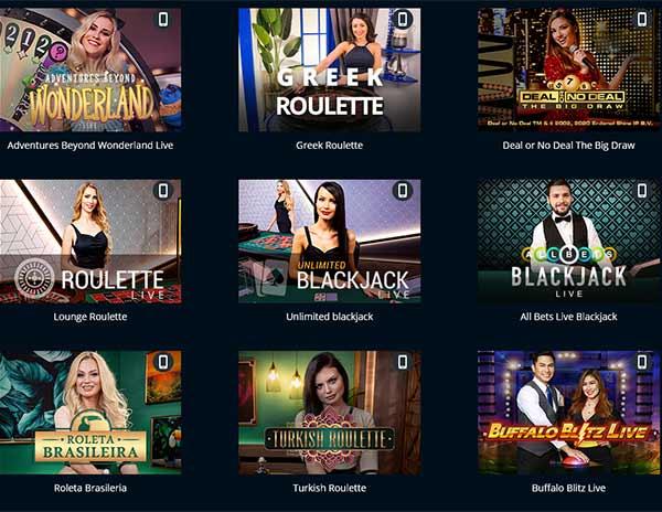 live casino King Solomons και παιχνίδια