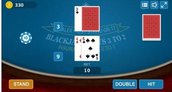 blackjack διπλασιασμός