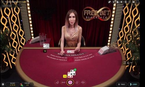 τραπέζι Free Bet Blackjack