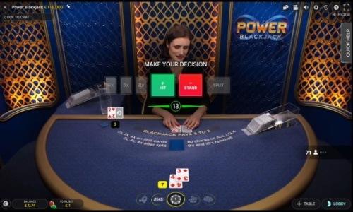power blackjack table