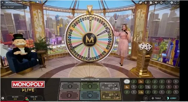 Monopoly Live της Evolution Gaming